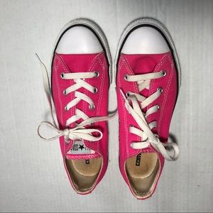 Converse All Star Girls Canvas Sneakers SZ 3